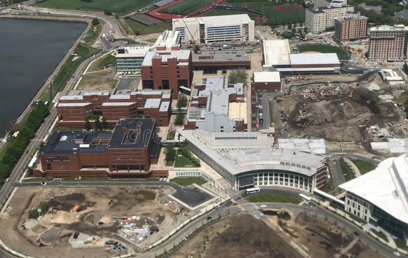 Commande d'université et campus d'UMass Boston image stock