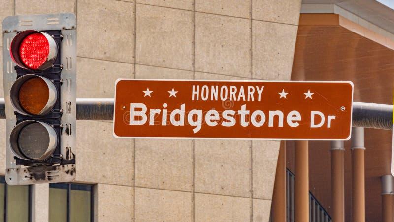 Commande de Bridgestone à Nashville photos libres de droits