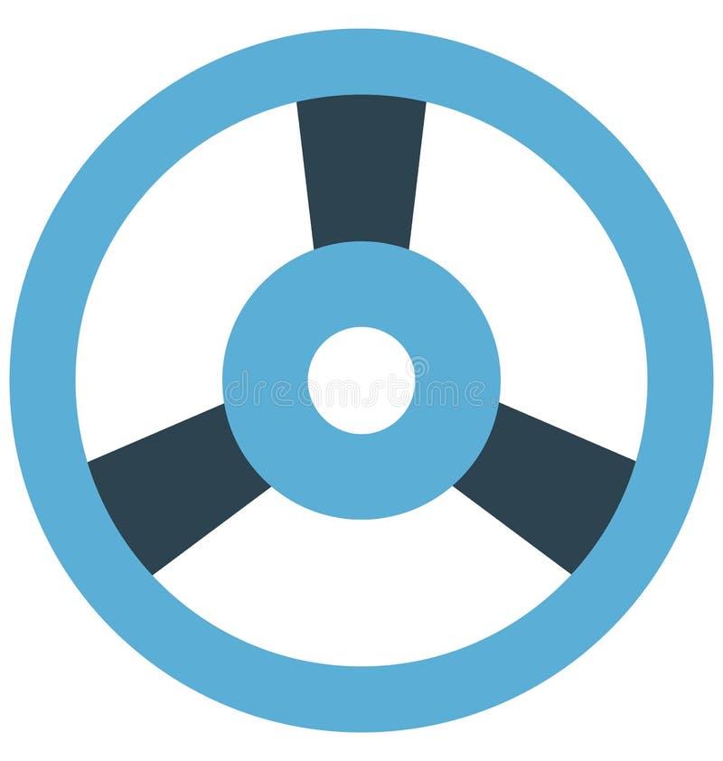 Commande de voiture, direction de voiture, icônes d'isolement de vecteur qui peuvent être facilement modifiées ou éditées illustration de vecteur