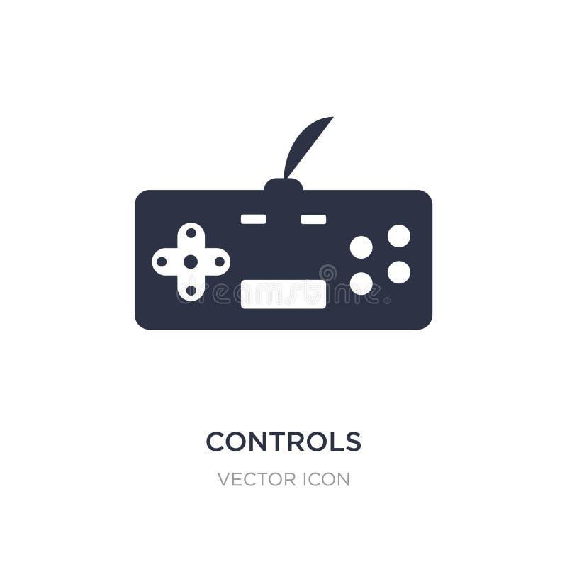 commande l'icône sur le fond blanc Illustration simple d'élément de divertissement et de concept d'arcade illustration stock