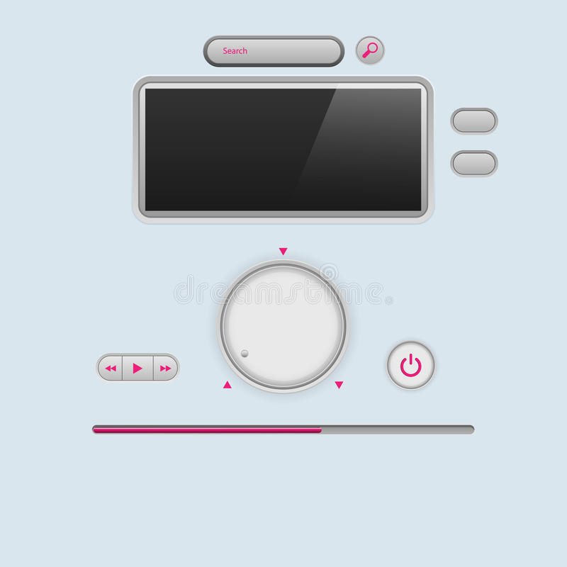 Download Commandez Les Boutons Sur Le Fond Bleu Illustration de Vecteur - Illustration du contrôle, interface: 87703553