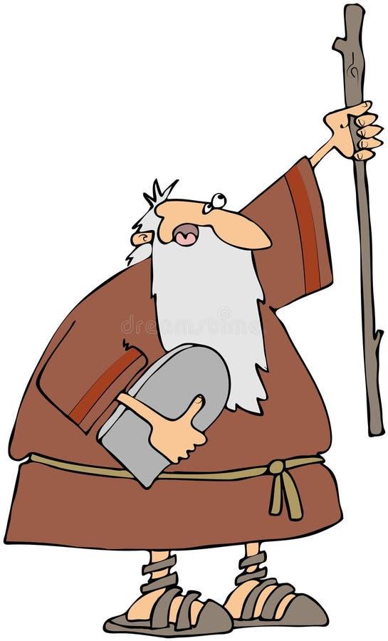 commandments moses tio stock illustrationer