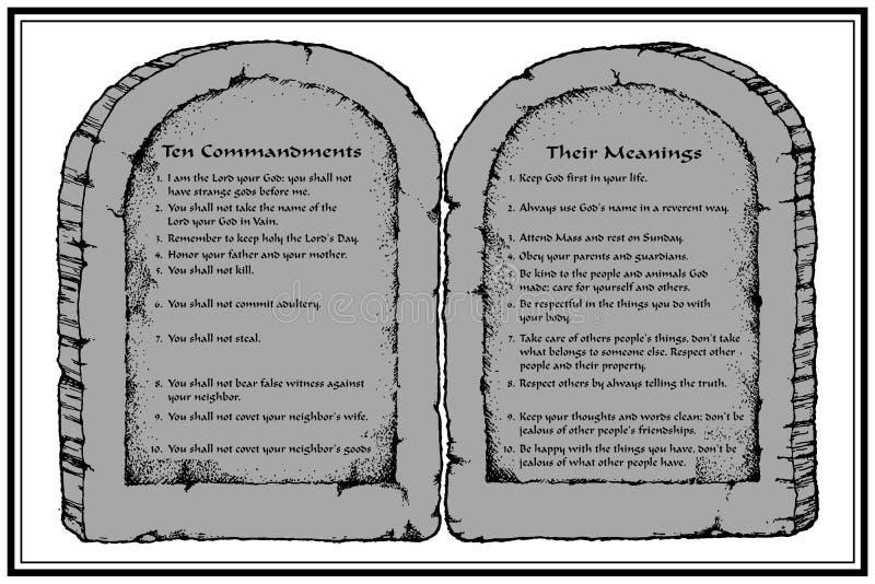 commandments tio royaltyfri illustrationer