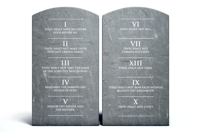 commandments tio stock illustrationer