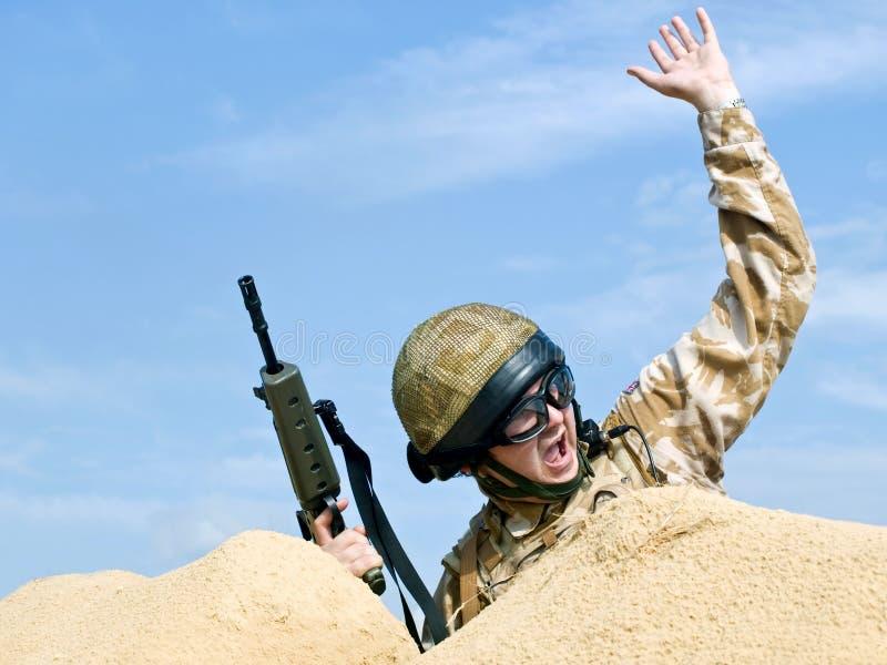 Commando in actie royalty-vrije stock foto's