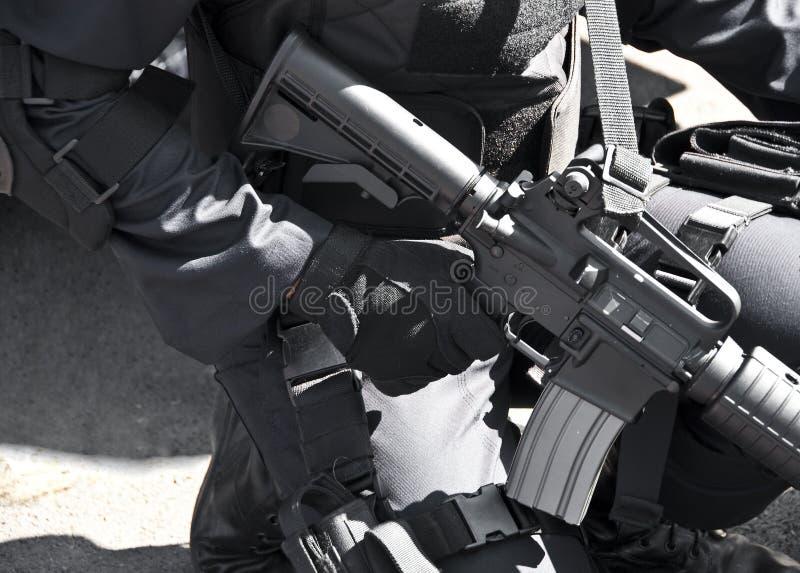 Commando avec la mitrailleuse. photo libre de droits