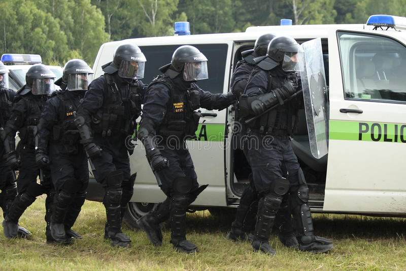 Commando de police photo libre de droits