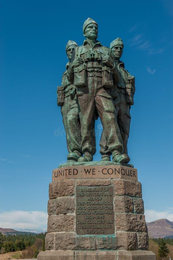 Commando Memorial Spean Bridge royalty free stock image