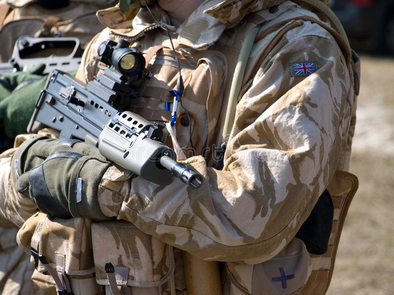 Commando royal britannique image libre de droits