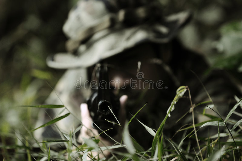 Commando soldier stock photography