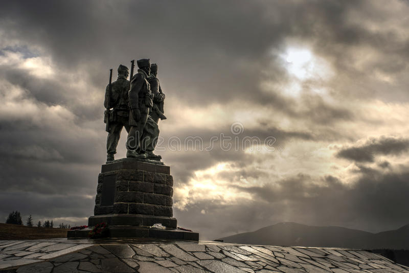 Commando statue in the Great Glen stock photography
