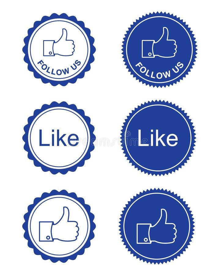 Comme de Facebook/facebook nous suivent des boutons