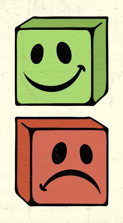 Comme et d'aversion symboles illustration de vecteur