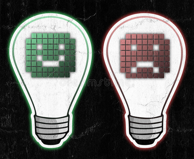 Comme et d'aversion symboles illustration stock