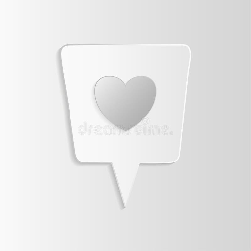 Comme l'icône 3d illustration de vecteur