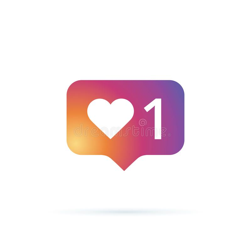 Comme le vecteur d'icône le media social aime l'icône de vecteur Instagram comme l'avis Icône d'avis Coeur Icône de réseau illustration de vecteur