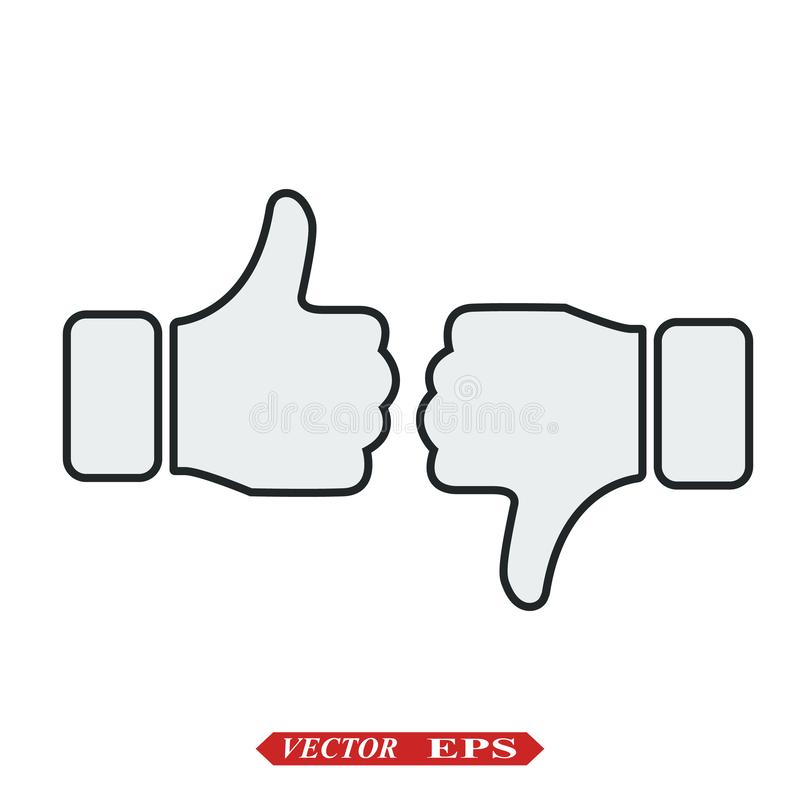 Comme le vecteur d'ic?ne Les pouces l?vent le graphisme Ic?ne sociale de media Comme et d'aversion graphisme Pouces vers le haut  illustration stock