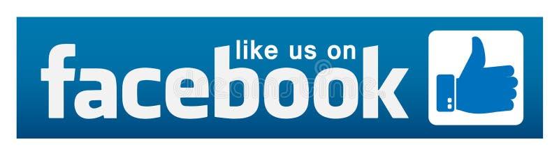 Comme nous sur l'icône de logo d'illustrations de bannière de facebook pour le Web illustration stock