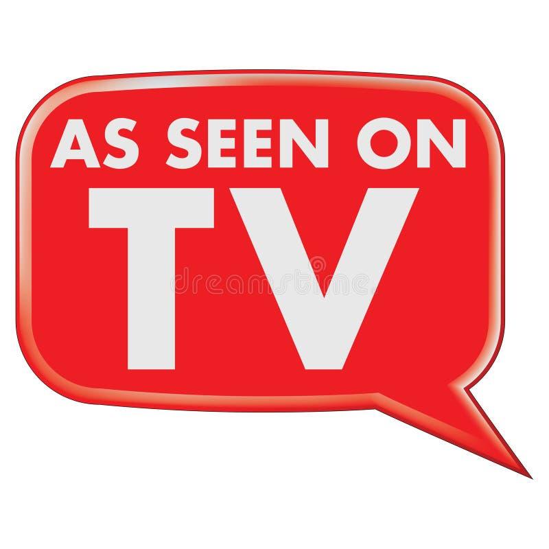 Comme vu sur le graphisme de TV illustration libre de droits