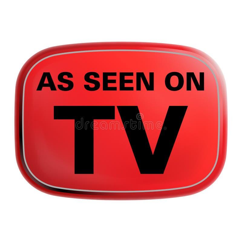 Comme vu sur le graphisme de TV illustration de vecteur