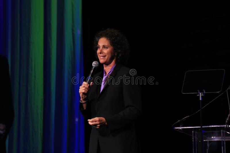 Commediante Dana Goldberg all'abito da sera 2016 fotografia stock