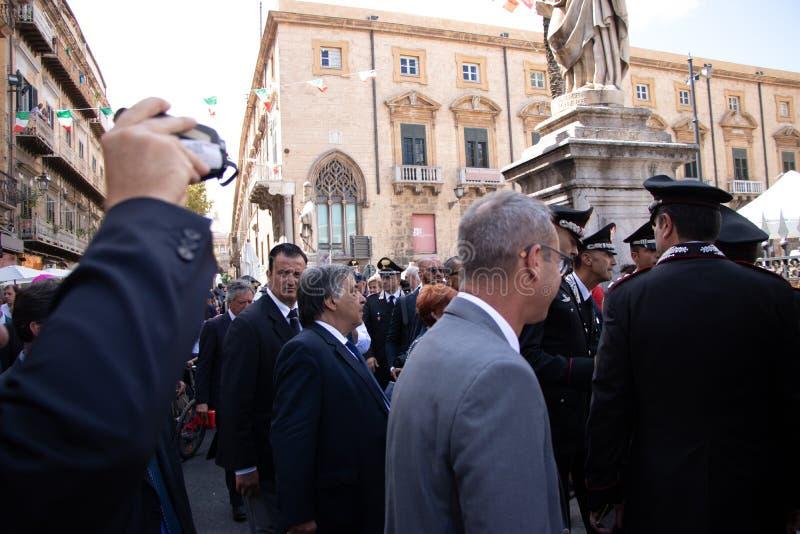Commemoration of General Carlo Alberto Dalla Chiesa, Palermo royalty free stock photos