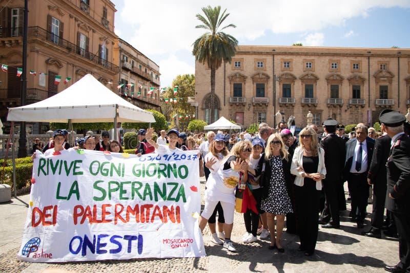 Commemoration of General Carlo Alberto Dalla Chiesa, Palermo stock photo
