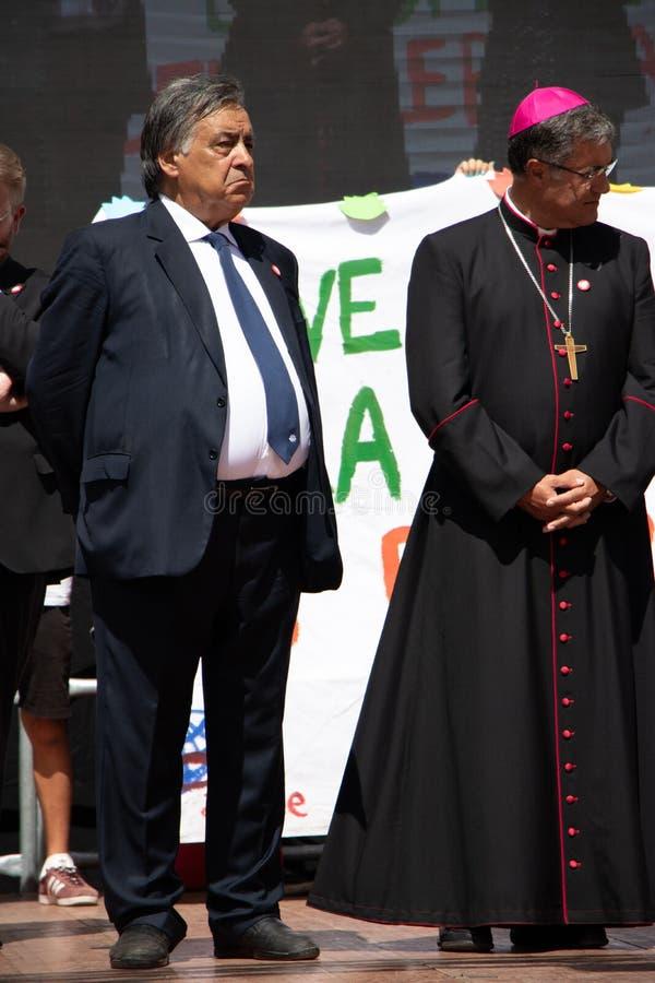 Commemoration of General Carlo Alberto Dalla Chiesa, Palermo royalty free stock image