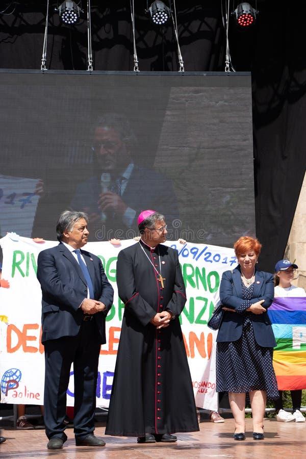 Commemoration of General Carlo Alberto Dalla Chiesa, Palermo royalty free stock photo