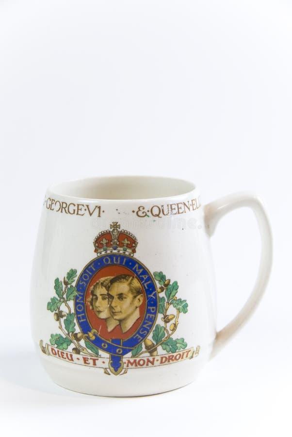 Commemorative coronation mug. Coronation mug for queen mary and king george royalty free stock photography