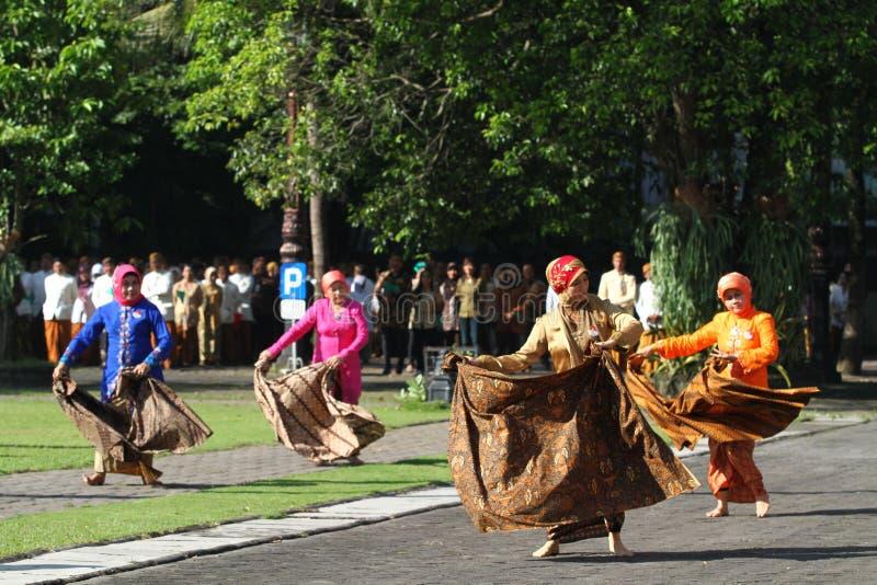 Commemorazione del giorno del batik immagine stock libera da diritti