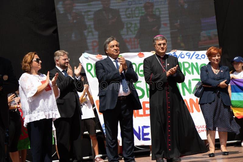 Commemorazione di generale Carlo Alberto Dalla Chiesa, Palermo immagine stock libera da diritti