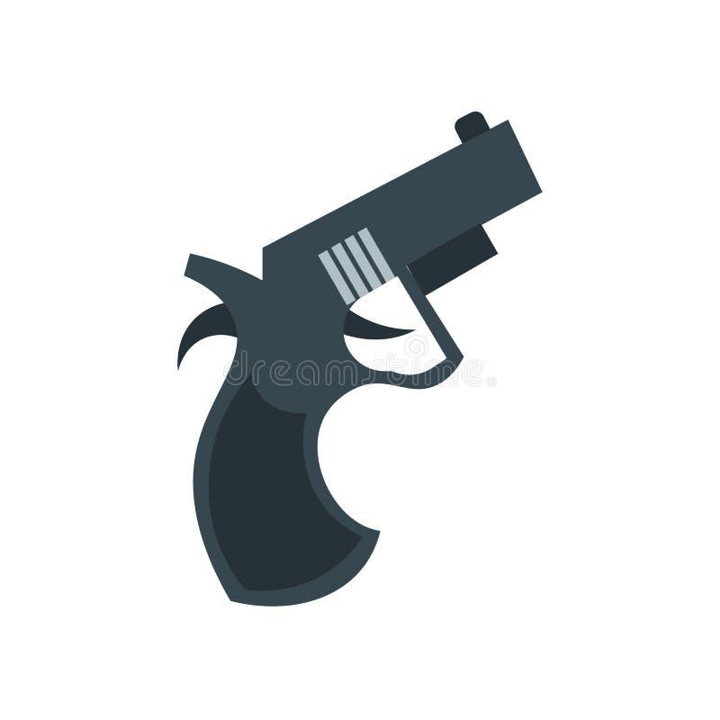 Commençant le vecteur d'icône d'arme à feu d'isolement sur le fond blanc, commençant illustration libre de droits
