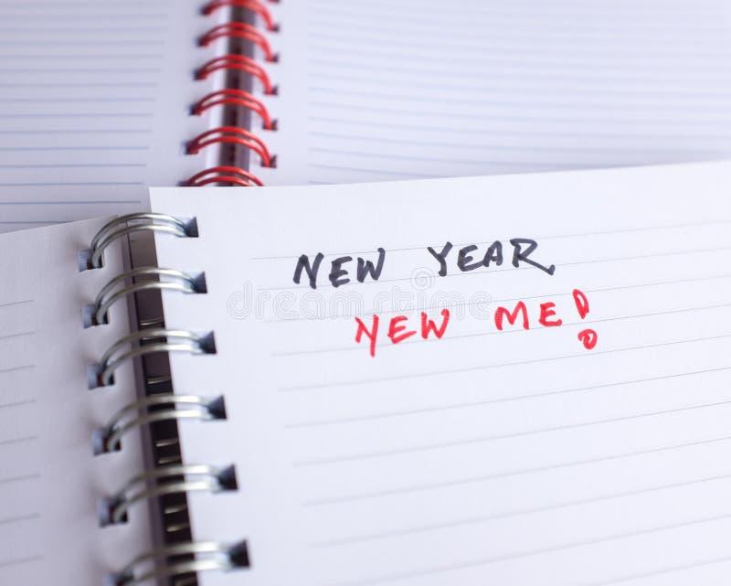 Commencez à penser à des résolutions de nouvelle année photo stock