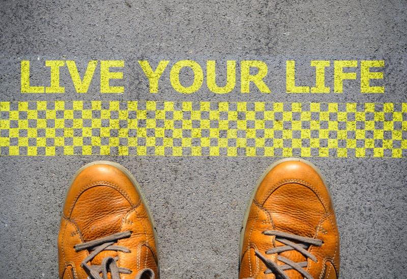 Commencez à vivre votre concept de la vie photo libre de droits