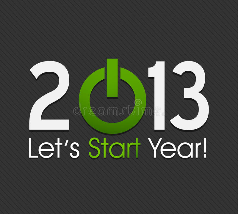Commencez l'an neuf 2013 illustration libre de droits