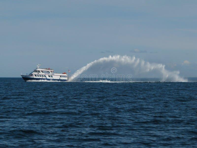 Commencez la ligne ferry images libres de droits