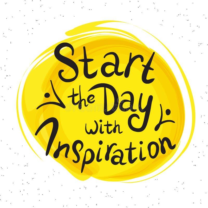 Commencez le jour avec l'inspiration illustration stock