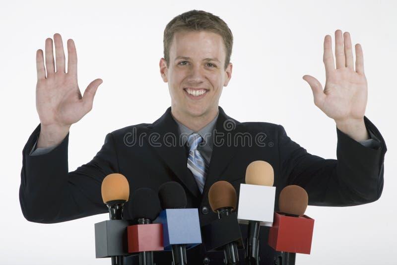 Commencment do discurso fotografia de stock