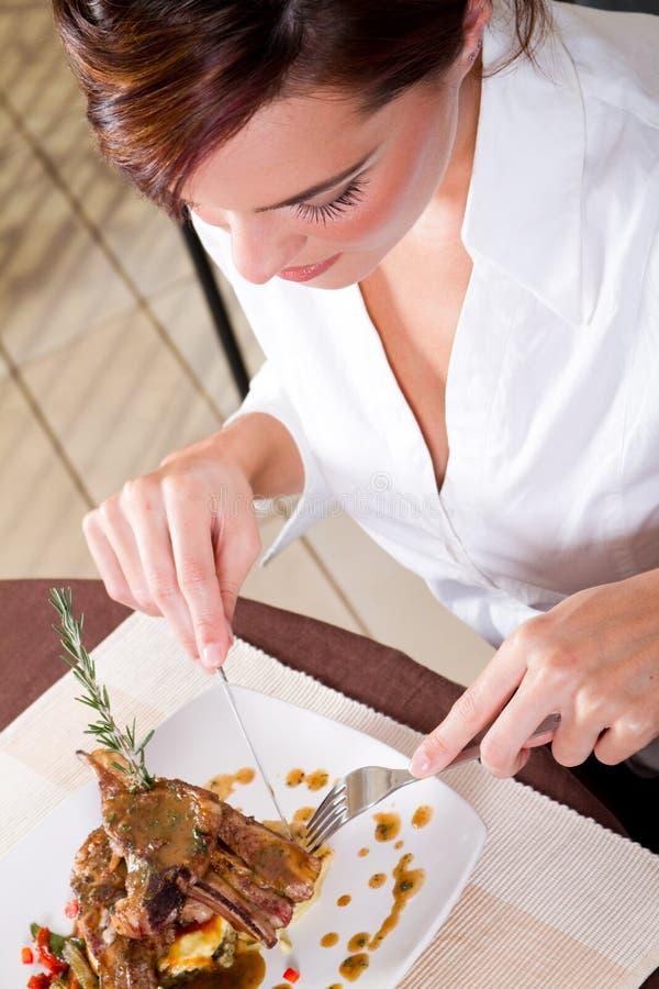 Commensale del ristorante immagini stock