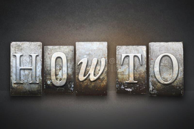 Comment à l'impression typographique photo stock