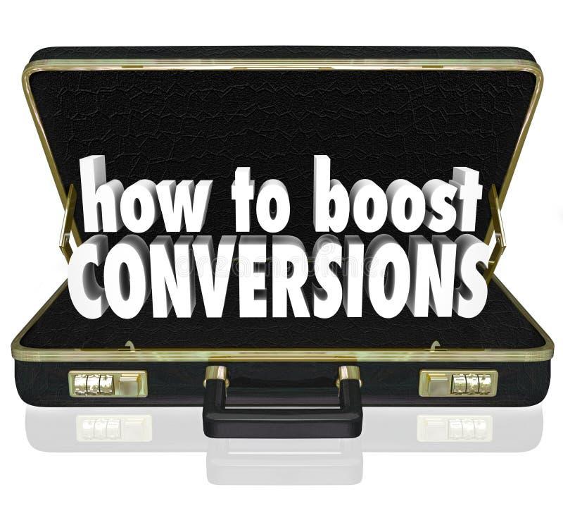 Comment amplifier le cours de clôture de ventes d'augmentation de serviette de conversions illustration de vecteur