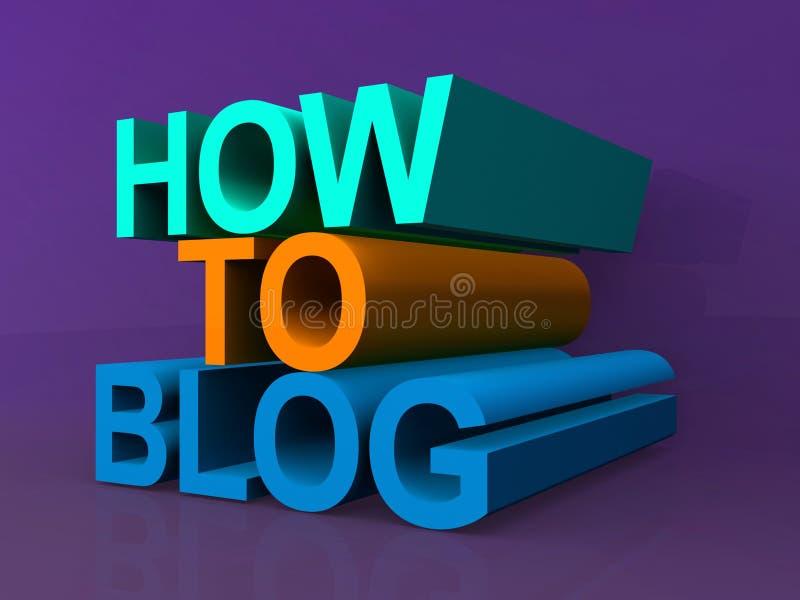 Comment au blog illustration de vecteur