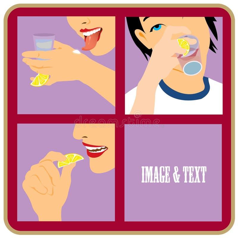 Comment boire le Tequila illustration de vecteur