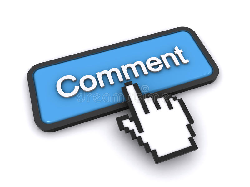 Download Comment button stock illustration. Image of finger, computer - 23332145