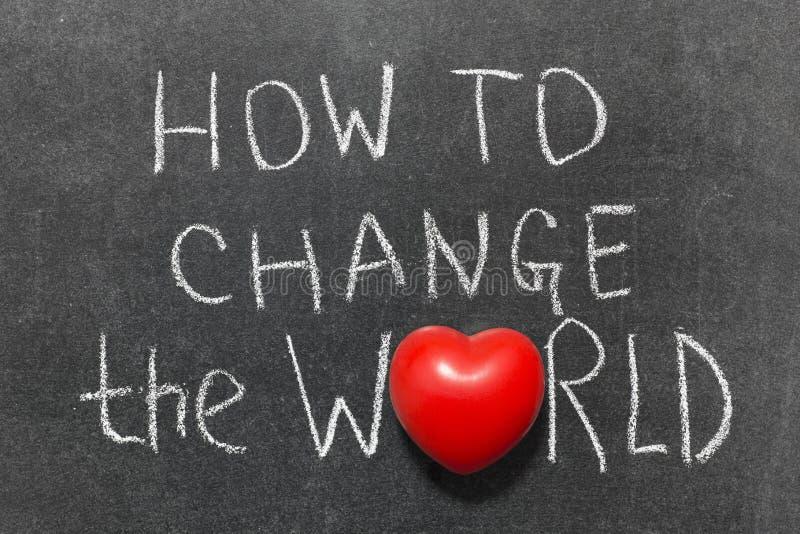 Comment changer le monde photo libre de droits