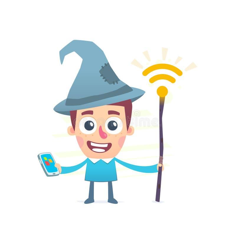 Comment configurer WI fi sur un smartphone ou un comprimé illustration libre de droits