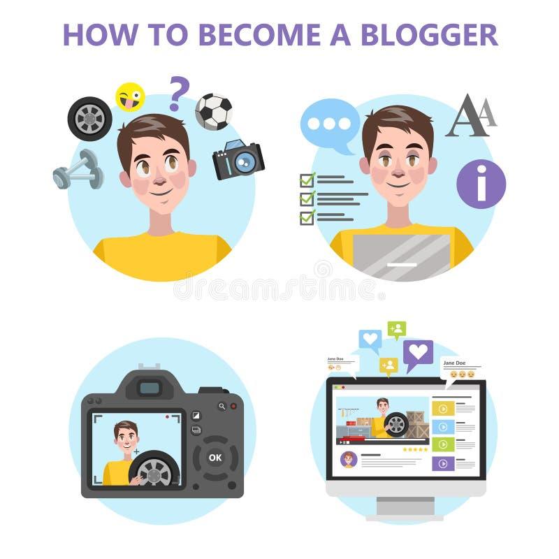 Comment devenir un bon blogger infographic illustration libre de droits