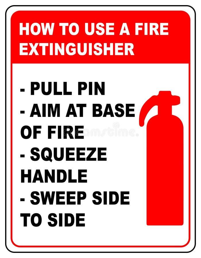 Comment employer une bannière informationnelle d'extincteur illustration stock