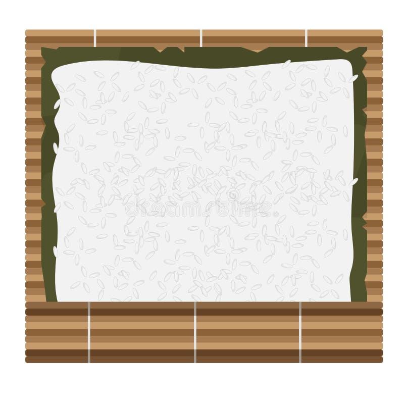 Comment faire des petits pains de sushi à la maison illustration libre de droits
